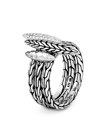 JOHN HARDY - Sterling Silver Classic Diamond Chain Stack Rings, Set of 3