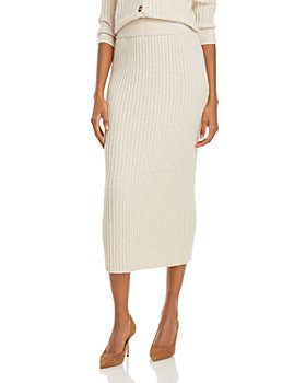 AQUA - Sweater Midi Skirt - 100% Exclusive