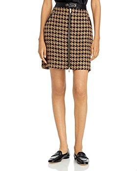 KARL LAGERFELD PARIS - Houndstooth Mini Skirt