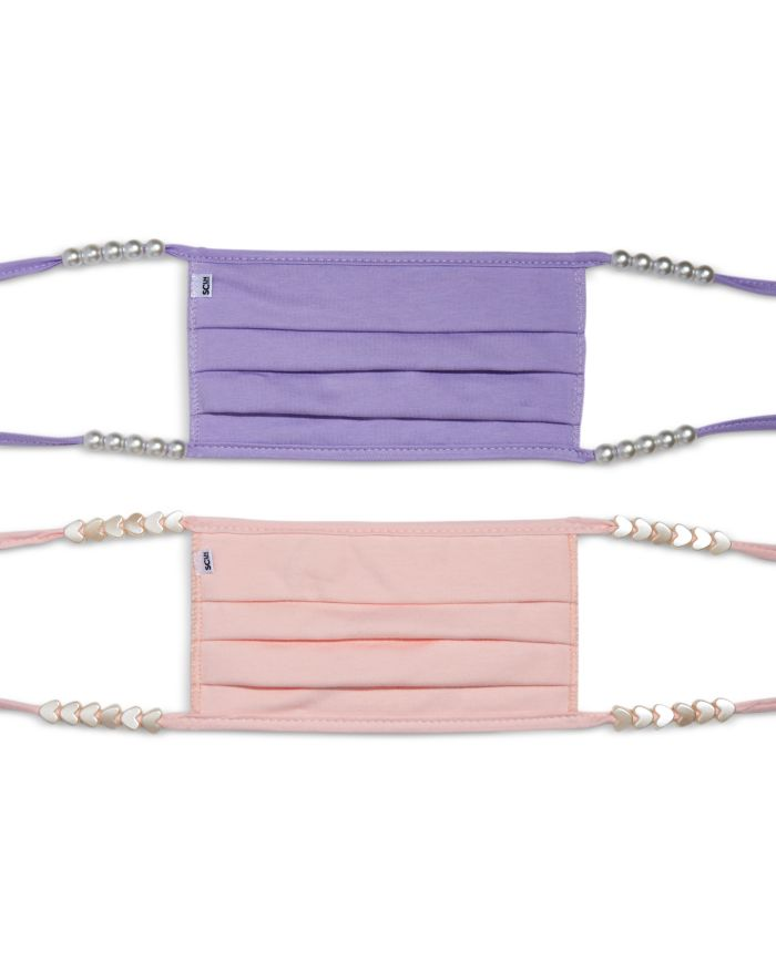 Stoney Clover Lane Pearlized Bead Purple & Pink Face Masks, Set of 2  | Bloomingdale's