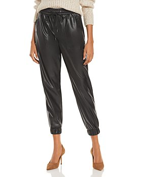 BLANKNYC - Cropped Faux Leather Pull On Pants