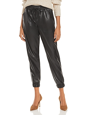 Blanknyc Cropped Faux Leather Pull On Pants-Women