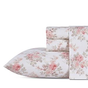 Laura Ashley Lisalee Cotton Flannel Sheet Set, King