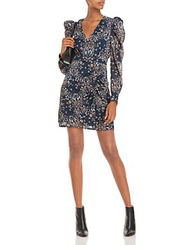 AQUA - Floral Print Mini Dress – 100% Exclusive