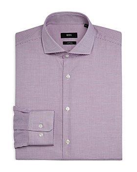 BOSS - Men's Mark US Cotton Micro Dot Sharp Fit Dress Shirt