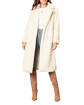 cupcakes and cashmere - Celestia Faux Fur Trench Coat