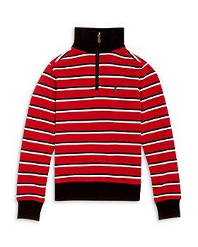 Ralph Lauren - Boys' Striped Quarter Zip Pullover - Little Kid, Big Kid