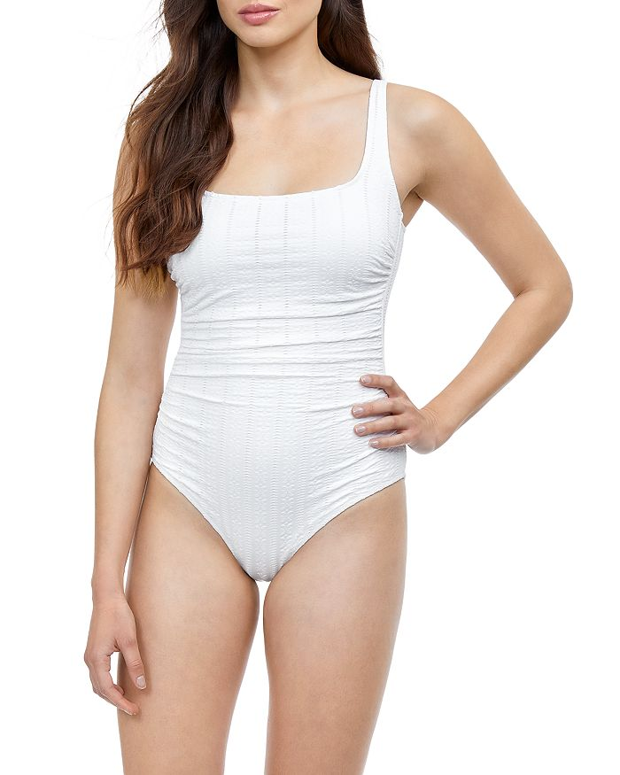 Profile By Gottex Textured One Piece Swimsuit Bloomingdale S