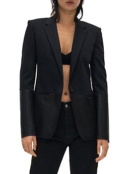 Helmut Lang - Leather Trim Blazer