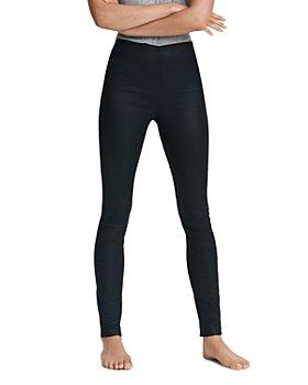 rag & bone - Nina High Rise Pull On Jeans in Coated Black