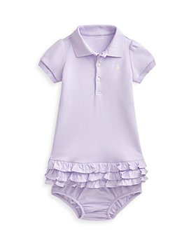 Ralph Lauren - Girls' Ruffled Polo Dress & Bloomer Set - Baby