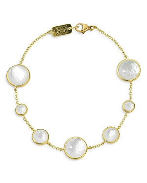 Ippolita 18K Yellow Gold Lollipop Mother-of Pearl Doublet and Mother-of-Pearl Link Bracelet-Jewelry & Accessories