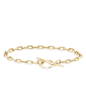 Zoe Chicco 14k Yellow Gold Square Link Toggle Bracelet
