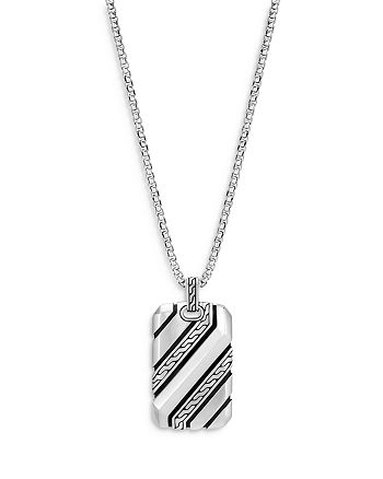 JOHN HARDY - Men's Sterling Silver Classic Dog Tag Pendant Necklace, 22""
