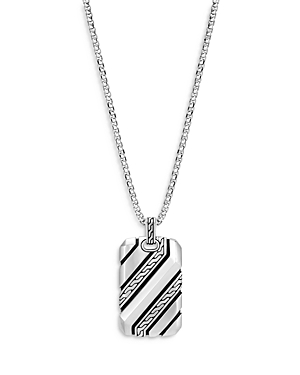 John Hardy Men\\\'s Sterling Silver Classic Dog Tag Pendant Necklace, 22-Jewelry & Accessories