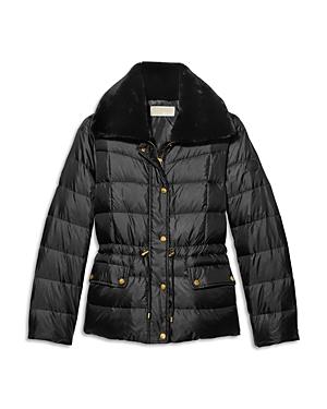 Michael Michael Kors Faux Fur Trim Puffer Coat-Women