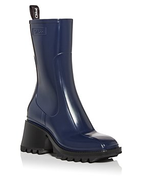 Chloé - Women's Betty Block Heel Platform Rain Boots
