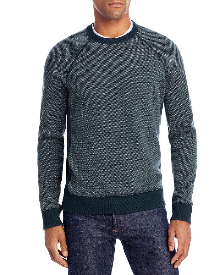 Vince - Bird's Eye Wool & Cashmere Crewneck Sweater