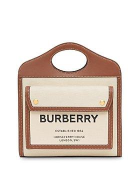 Burberry - Mini Canvas & Leather Tote