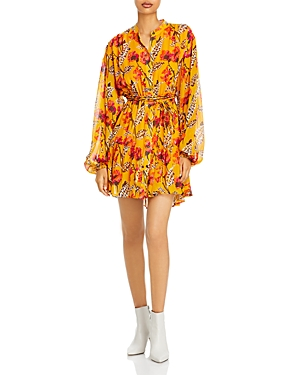 A.l.c. Jen Silk Printed Fit And Flare Dress-Women