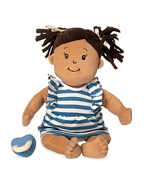 Manhattan Toy Baby Stella Beige with Brown Hair 15 Soft First Baby Doll - Ages 12 Months+