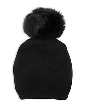 Kyi Kyi - Cashmere Faux Fur Pom Pom Hat