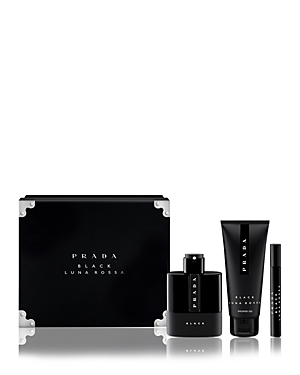 Prada Luna Rossa Black Eau De Parfum 3 Piece Gift Set ($130 Value)