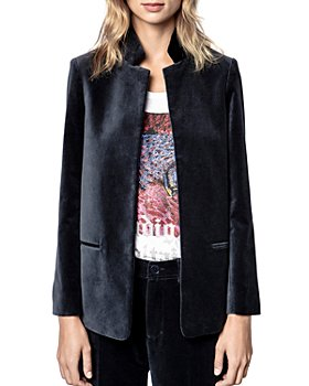 Zadig & Voltaire - Volly Velvet Open Front Jacket