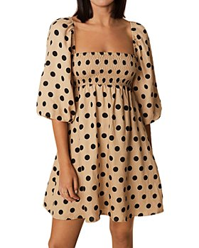 Faithfull the Brand - Dallia Linen Puff Sleeve Mini Dress