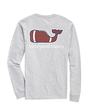 Vineyard Vines Long-Sleeve Football Whale Logo Graphic Pocket Tee-Men