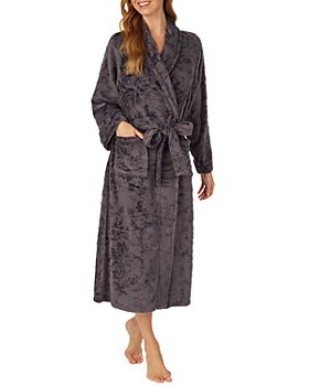 Eileen West - Floral Long Plush Fleece Robe
