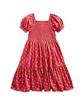 Ralph Lauren - Girls' Smocked Floral Print Tiered Cotton Dress - Little Kid