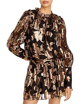 Ramy Brook - Jayda Metallic Print A Line Dress