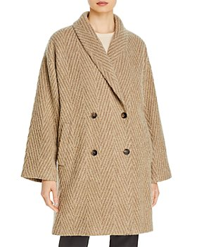 Eileen Fisher - Chevron Double Breasted Coat