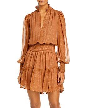 A.L.C. - Silvie Striped Smocked Mini Dress