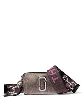 MARC JACOBS - Snapshot Glitter Leather Crossbody Bag