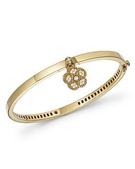 Roberto Coin - 18K Yellow Gold Daisy Lux Diamond Bangle Bracelet - 100% Exclusive