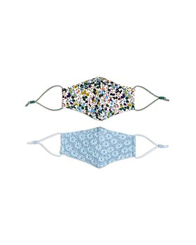 Lele Sadoughi - Girls' Floral Blue Face Masks, Set of 2