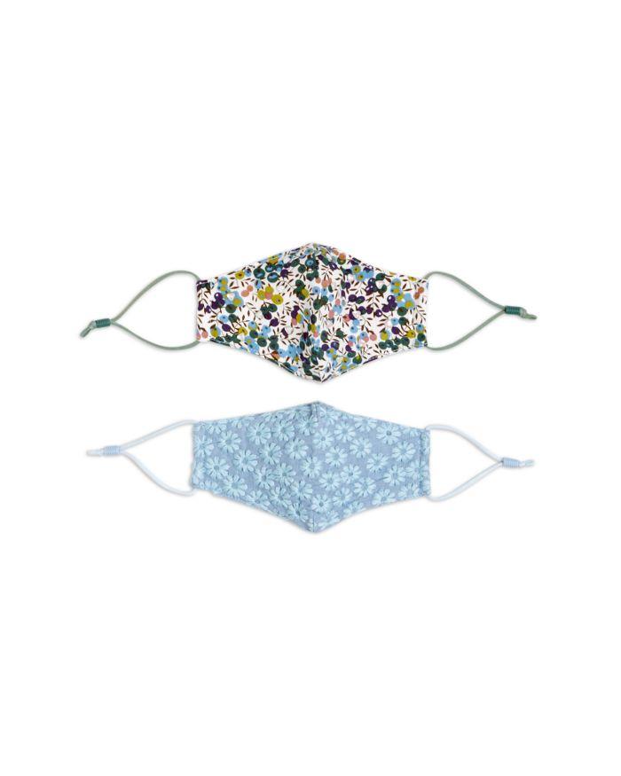 Lele Sadoughi Girls' Floral Blue Face Masks, Set of 2  | Bloomingdale's