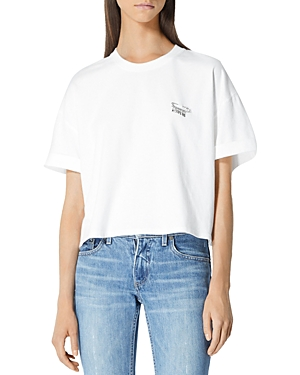 The Kooples ECRU COTTON SAFETY PIN TEE