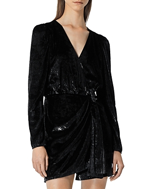 The Kooples Velvet Wrap Dress