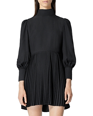 The Kooples PLEATED MINI DRESS