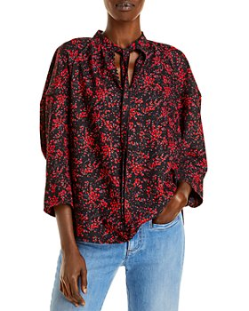 See by Chloé - Printed Tie Neck Top