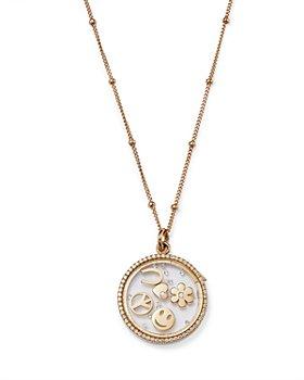 "Zoe Lev - 14K Yellow Gold Happy Diamond Charm Locket Pendant Necklace, 20-22"""