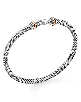 David Yurman - Cable Buckle Bracelet with 18K Rose Gold