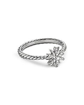 David Yurman - Sterling Silver Petite Starburst Station Ring with Diamonds
