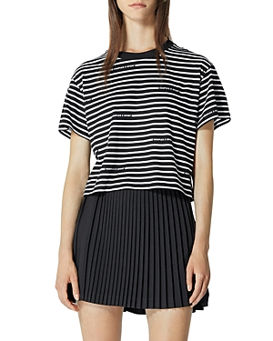 The Kooples Striped Cotton Tee