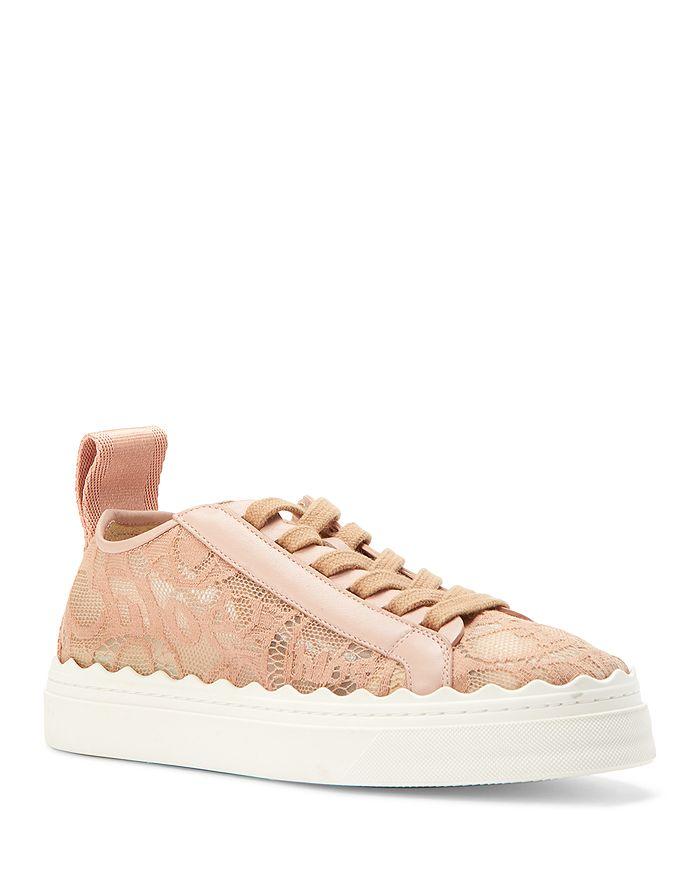Chloé - Women's Lauren Lace Low-Top Sneakers