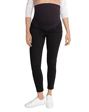 Maternity Crossover Panel Skinny Jeans in Black