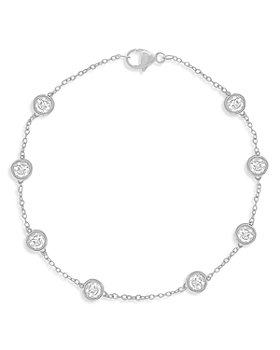Bloomingdale's - Diamond Station Bracelet in 14K White Gold, 1.50 ct. t.w. - 100% Exclusive